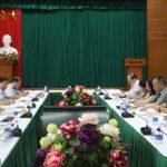 Thứ trưởng Bộ Công thương Trần Quốc Khánh làm việc với Ban VSTBPN Tập đoàn TKV