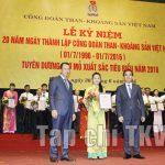 Công đoàn Than – Khoáng sản Việt Nam: Chặng đường 20 năm vinh quang