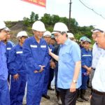Đồng chí Nguyễn Thiện Nhân, Uỷ viên Bộ Chính trị, Chủ tịch Ủy ban Trung ương MTTQ Việt Nam làm việc với Tập đoàn TKV