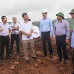 Bí thư Tỉnh ủy Lại Xuân Môn khảo sát các điểm đổ thải thuộc Dự án khai thác lộ thiên mỏ sắt Nà Rụa (Thành phố)