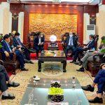 Các đồng chí lãnh đạo Tập đoàn Công nghiệp Than – Khoáng sản Việt Nam chúc Tết cán bộ, công nhân viên Tổng công ty Khoáng sản