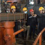 Phó Tổng giám đốc Tập đoàn Nguyễn Tiến Mạnh làm việc với Công ty CP Kim loại màu Thái Nguyên